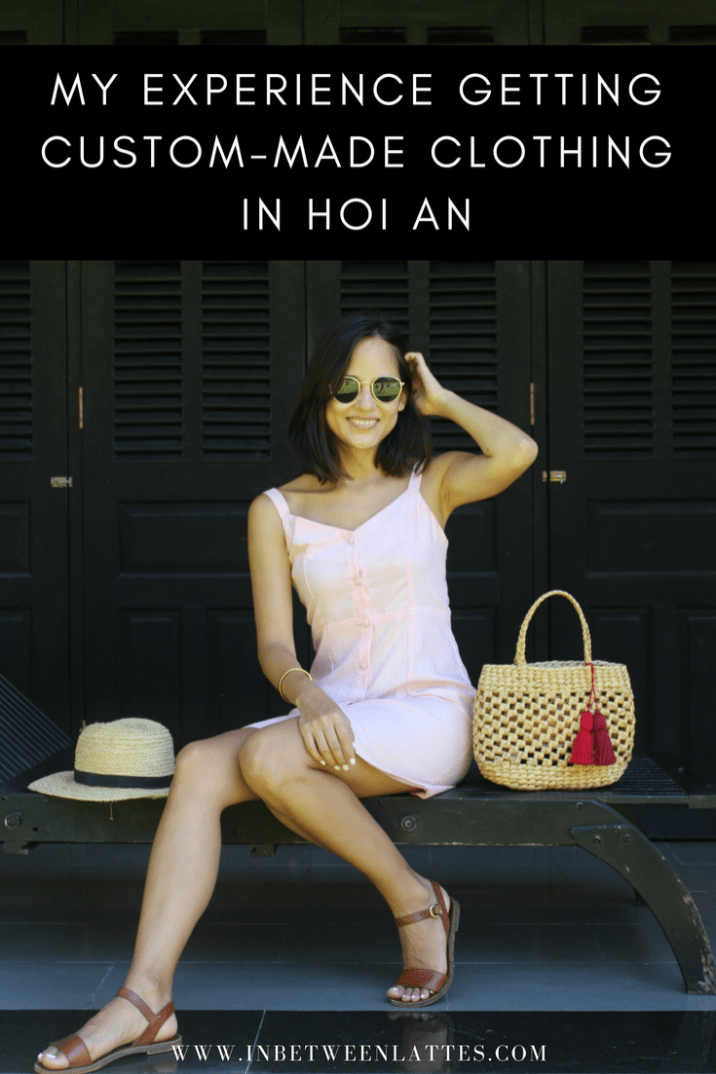 187793db357 Hoi An Tailor Dress Pink Linen Dress Straw Hat Straw Bag Custom Made Dress