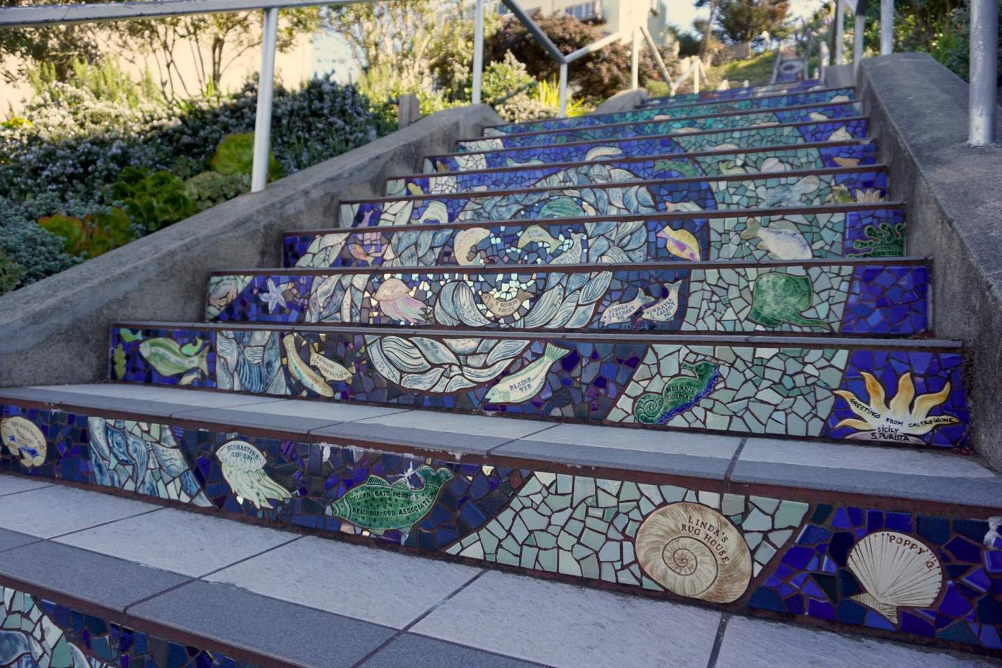 16th Avenue Tiled Steps – San Francisco – IN BETWEEN LATTES BLOG 1