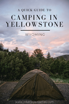 A Quick Guide to CAMPING IN YELLOWSTONE - IN BETWEEN LATTES