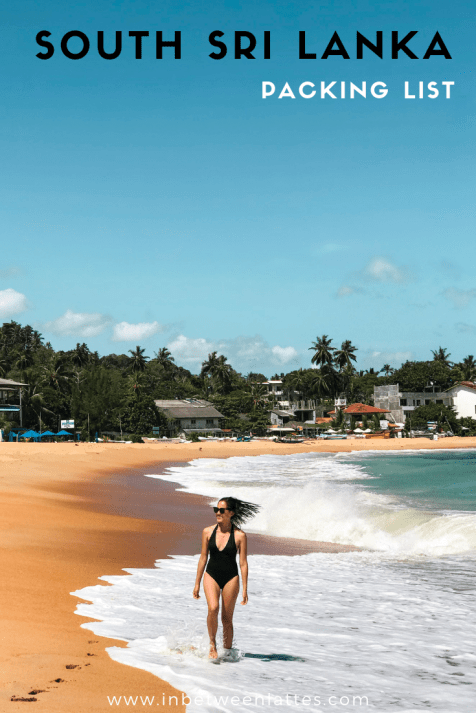 South Sri Lanka Packing List