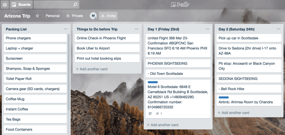 How to Plan a Trip using Trello