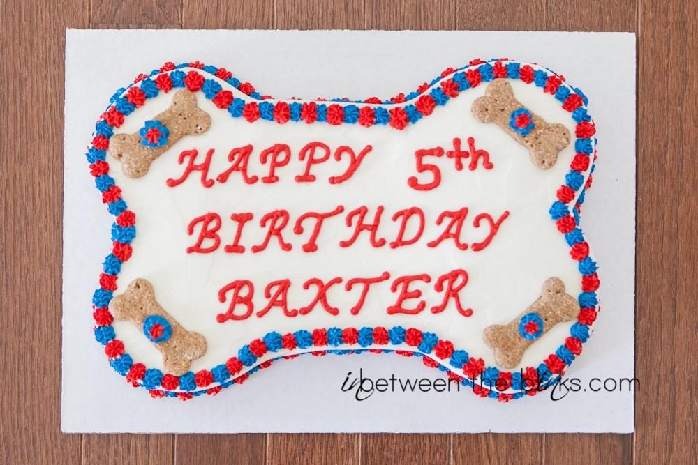Happy 5th Birthday Baxter Dog Birthday Party