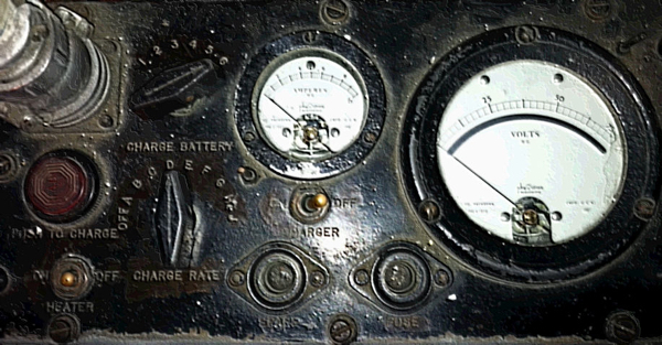 Photos of battery charager inside a submarine