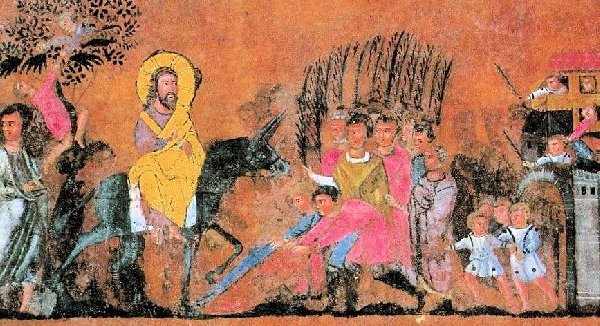 Painting Jesus' Triumphal Entry