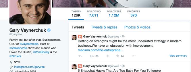 Twitter Bio Gary Vaynerchuk