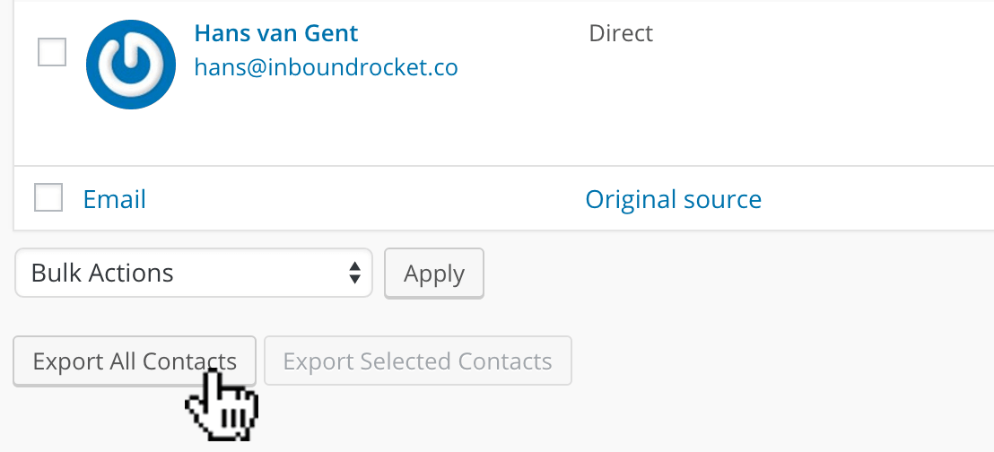 Exporting your contacts into a .csv file ready to be imported.