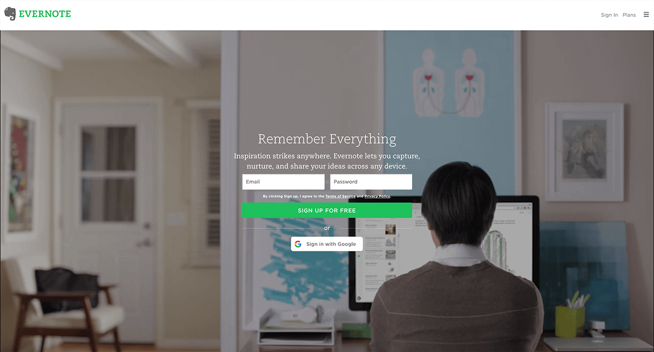 CTA Evernote - Remember Everything