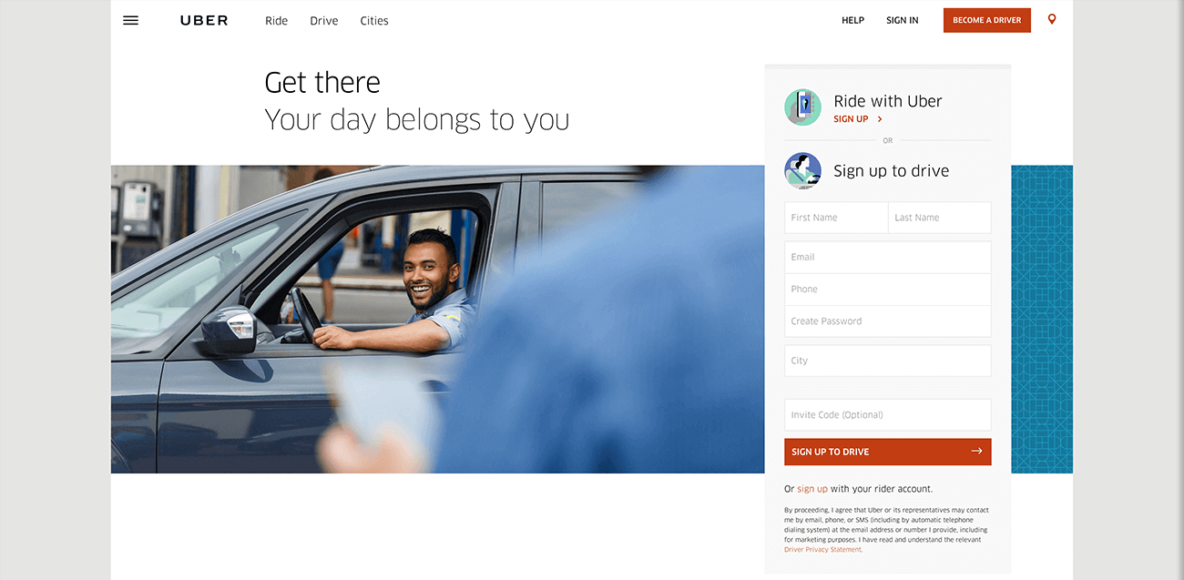 CTA Uber - Your day belongs to you