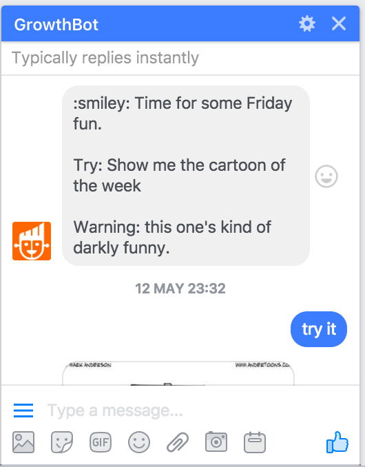 Growthbot on Facebook Messenger