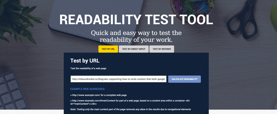 Read-Able Readability Test Tool