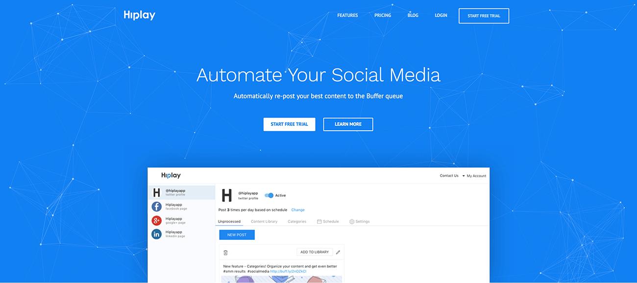 Hiplay - Automate Your Social Media
