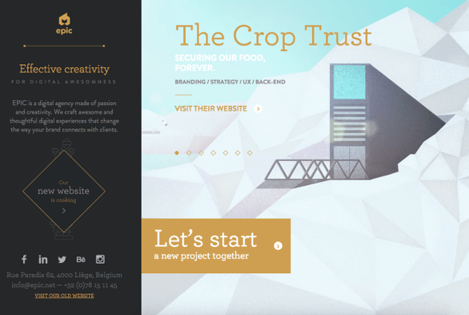 a bold Call-to-Action (CTA) button by Epic Agency