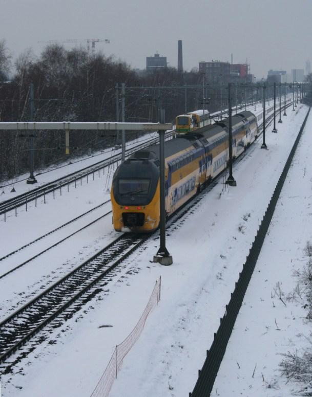 Trein in de sneeuw