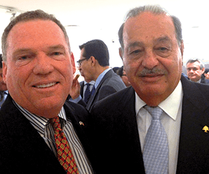 Mike Patterson (Polsinelli) and Carlos Slim (world's second-richest man)