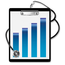 clipboard-stethoscope-bar-graph