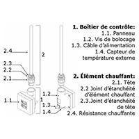 Thermostat sèche-serviette de haute qualité