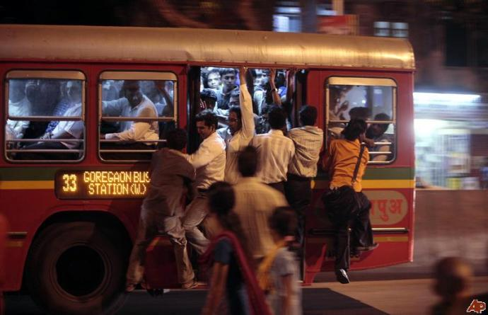 Working in a Large Services Industry is like Traveling in a City Bus