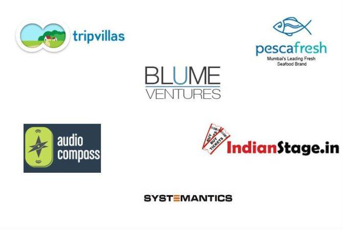 Blume Ventures discloses investment in IndianStage, AudioCompass, Systemantics & PescaFresh