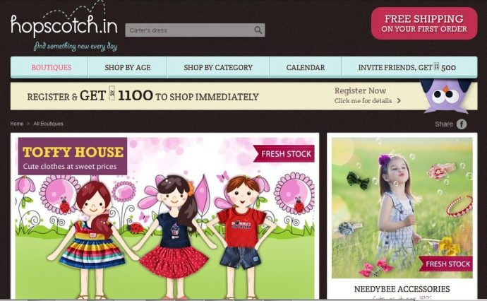 Online merchandise store for kids – Hopscotch raises $ 2 Mn from Nisa Godrej & Others