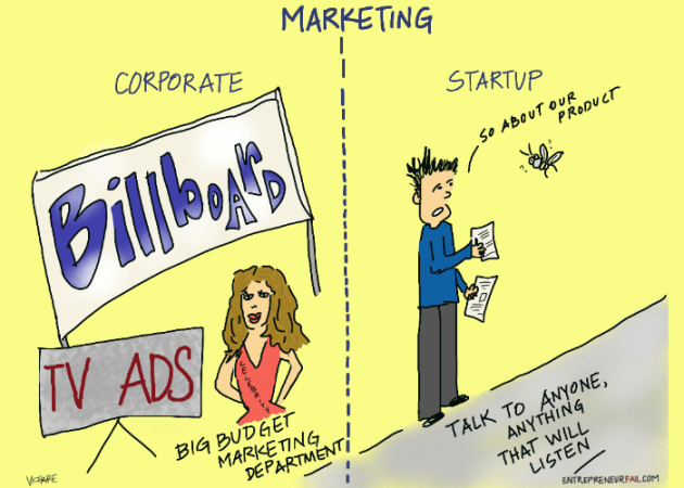 Corporate VS. Startup Marketing