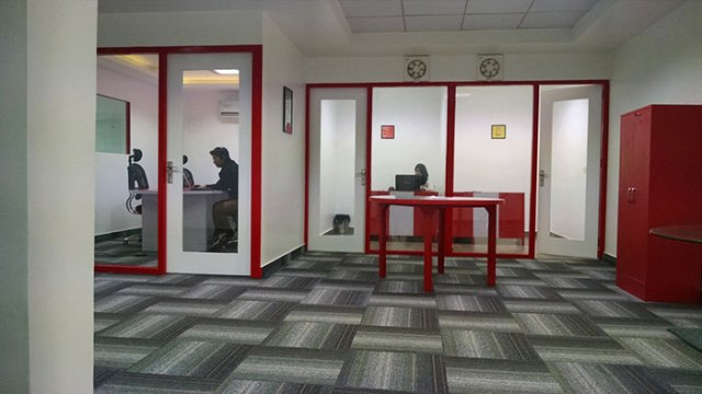 See Through Doors in the Meeting Room and Cabins