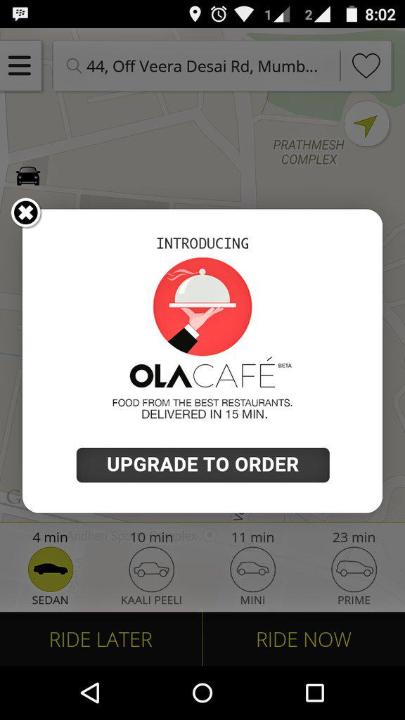 food delivery ola