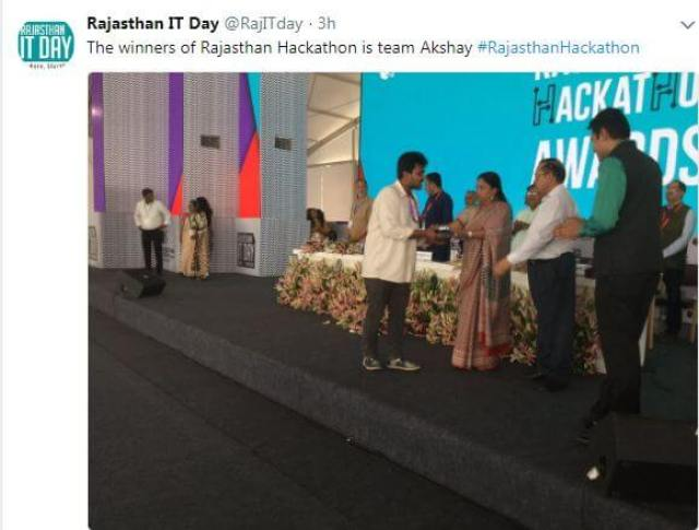 Rajasthan IT Day 2018: Meet The Three Winners Of Hackathon 4.0