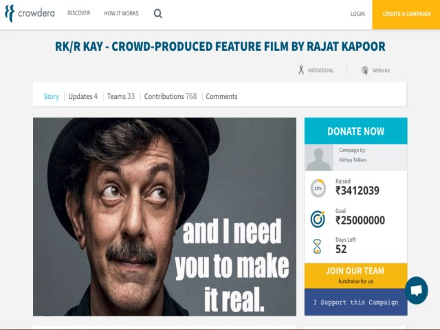 Support FrCrowdera: This Crowdfunding Platform Is Creating A 'Giving Economy' By Connecting Do-Gooders With Those In Needom 60 Countries For Humanitarian Calls On Crowdera Since its inception in 2014, Crowdera's platform-as-a-service (PaaS) solution has helped more than 2,500 crowdfunding campaigns, claims Jain. He adds that the crowdfunding platform is popular in India, the US, the UK, Canada, Guatemala, Singapore, among other 60 countries. Some time ago, storyteller, writer, and humanitarian Laura Simms raised $4.2K on gocrowdera to help a group of adolescent girls in Haiti, who were recuperating from the devastating earthquake. Simms required funds to organise a girls meetup in the Haiti camp to impart awareness on the power of supporting each other by writing poetry and dancing. In her campaign note, she talked about spreading awareness on the risk of diseases and sexual abuse. The campaign that has raised the highest funds so far on the Crowdera platform was launched by Hyderabad-based anti-sex trafficking NGO Prajwala. Its founder — social activist Sunitha Krishnan — raised close to $226K to build a rehabilitation centre for victims of sex trafficking. Crowdera also enables artists and filmmakers to use its platform to raise funds for their projects. Mumbai-based actor and director Rajat Kapoor is crowdfunding for RK/R KAY — a crowd-produced feature film. He has so far raised $48.6K on Crowdera. In another film-making campaign, former Radio Mirchi executive vice-president and radio consultant Riya Mukherjee raised about $27K on Crowdera to produce a short film — The Disguise, which is based on cultural intolerance and racism.