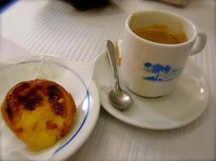 Coffee with pastel de Belem, Portugal