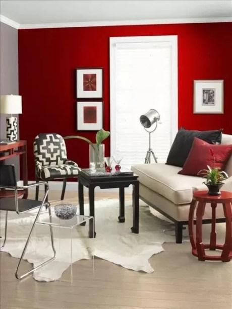 decoração ambiente cor vermelha