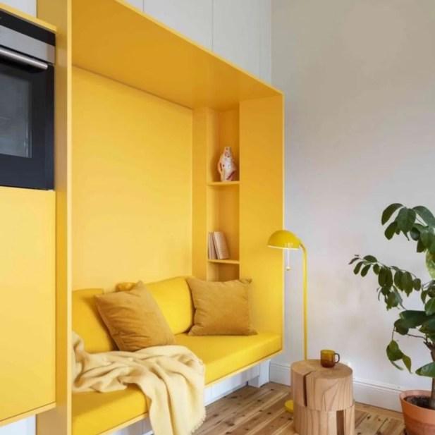 Decoração ambiente cor amarelo