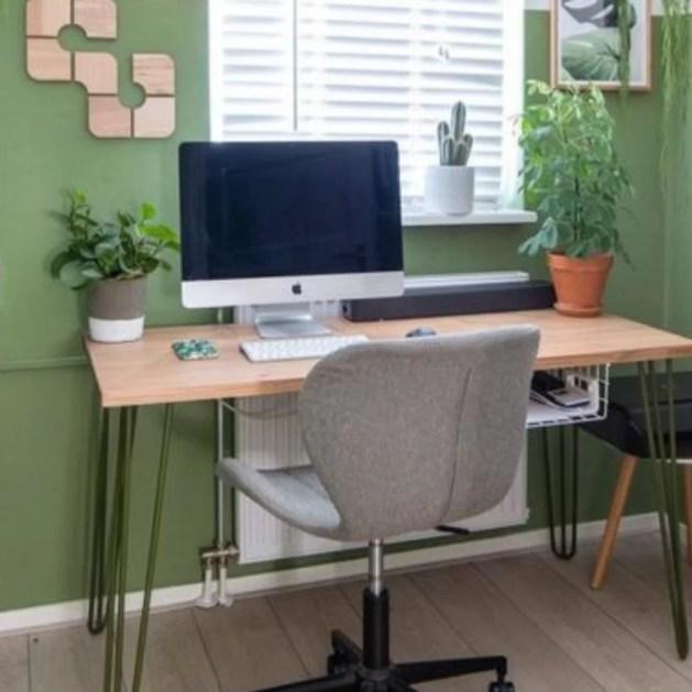 decoração ambiente cor verde