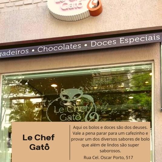 Le Chef Gato, Paraiso, confeitaria, bolos