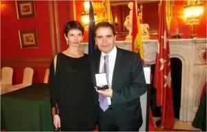Galardonados con la medalla de oro de Foro Europa.