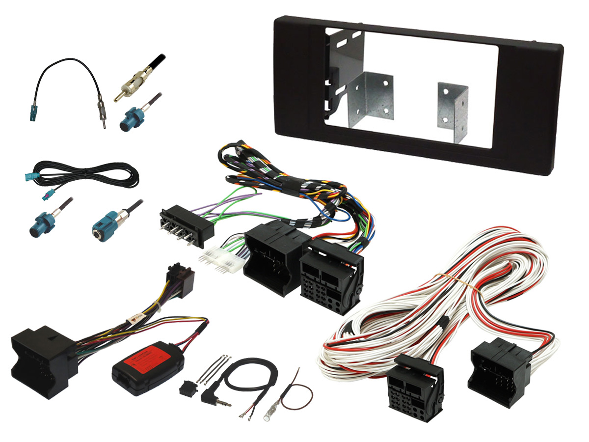 hight resolution of bmw x5 e53 double din stereo upgrade fitting kit with steering controls and dsp bypass