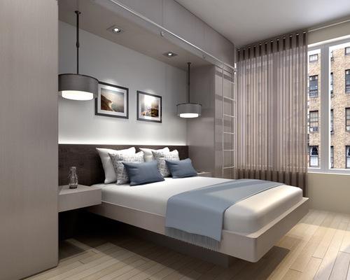 Dormitor modern in culori neutre