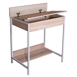 birou copii stejar si cadru de metal