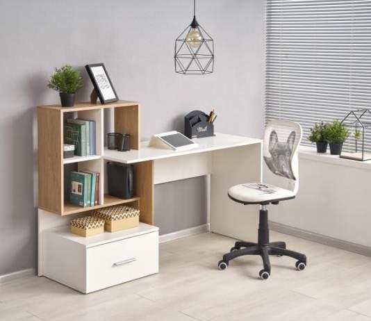 birou calculator cu rafturi
