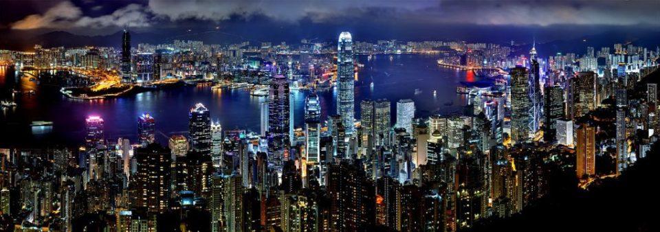 hong-kong-skyline by night pixabay