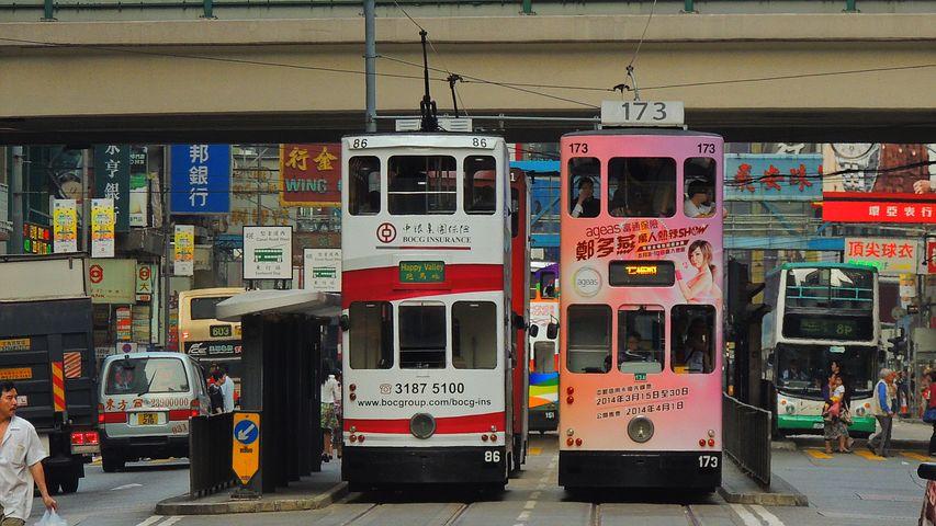 hongkong buses pixabay
