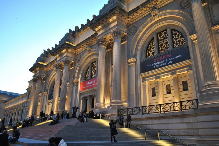 Exterior and step Metropolitan Museum of Art New York