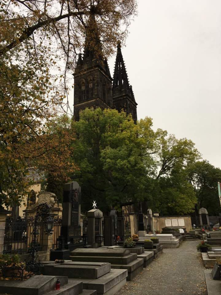 Cemetery next to Vysehrad Cathedral