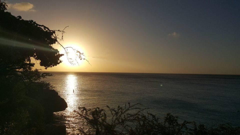 sunset at grote knip curacao