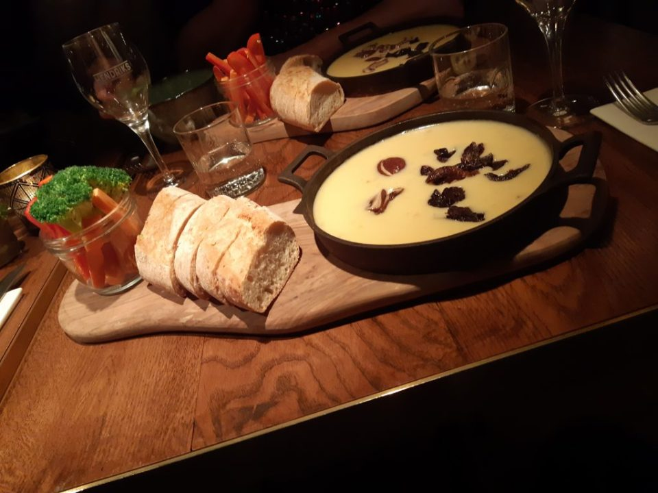 cheese fondue at restaurant Hendriks The Hague