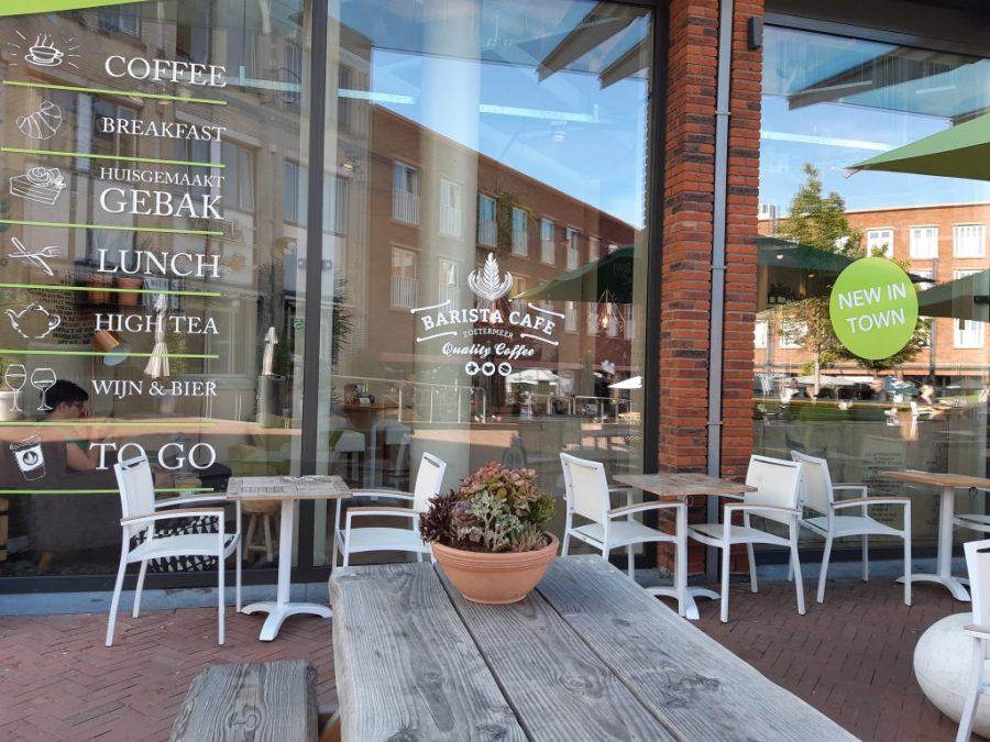 Ruit met tekst Barista Café Zoetermeer