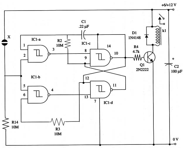 Touch-Activated Relay (ART062a)