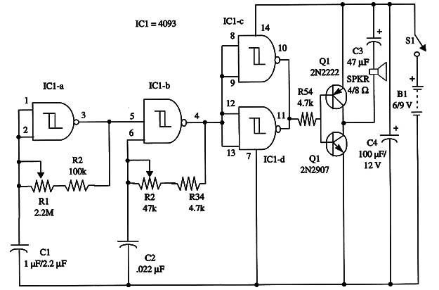 Power Beeper Using the 4093 IC (ART162E)