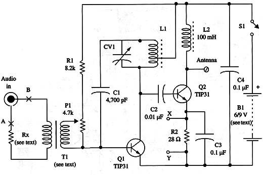 Two-Transistor MW Transmitter (TEL023E)