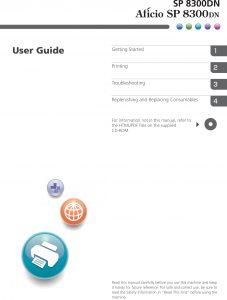 Operating Instructions - User Guide: (AL-P2) Aficio SP 8300DN, S