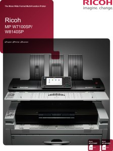 MP W7100SP W8140SP Brochure image